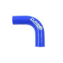 Szilikon könyök TurboWorks Kék 90 fok 28mm